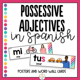 Possessive Adjectives in Spanish Posters and Wordwall